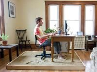 Artist Justin Kemp set up this unusual home office design he calls Surfing with the sand between my toes. Dream Home Design, Home Office Design, Home Interior Design, House Design, Office Designs, Office Ideas, Interior Ideas, Office Plan, Office Setup