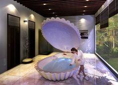 32 Cute Mermaid Home Décor Inspiration Ideas - Home Design Dream Bathrooms, Dream Rooms, Dream Bedroom, Mermaid Bathroom, Mermaid Room, Mermaid Bedding, Mermaid Shell, Dream Home Design, My Dream Home