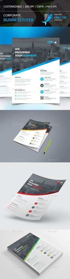 Corporate Flyer Template PSD #design Download: http://graphicriver.net/item/corporate-flyer/14241631?ref=ksioks