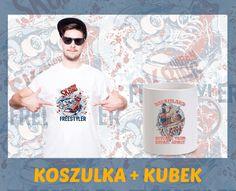Koszulka T-shirt męski z nadrukiem + kubek ZESTAW idealny prezent NA URODZINY