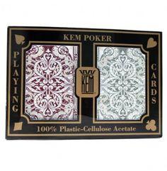 Ben jij op zoek naar de beste poker kaarten voor jouw poker spel?   De KEM jacquard kaarten zijn uitgevoerd met een zeer luxe design. Jumbo index.