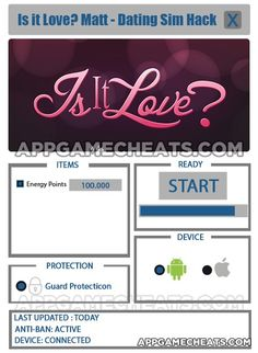 Is it Love? Matt - Dating Sim Cheats, Tips, & Hack for Energy Points  #IsItLove #Simulation #Strategy http://appgamecheats.com/is-it-love-matt-dating-sim-cheats-tips-hack/