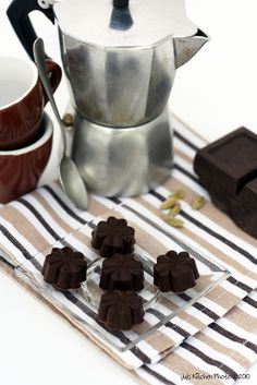 coffee and chocolate cubes