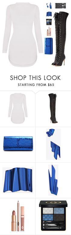 """""""Sin título #5170"""" by mdmsb on Polyvore featuring moda, Gianvito Rossi, Yves Saint Laurent, Dolce Vita y Gucci"""