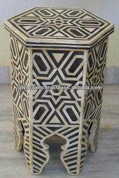 Moroccan inlay small side table