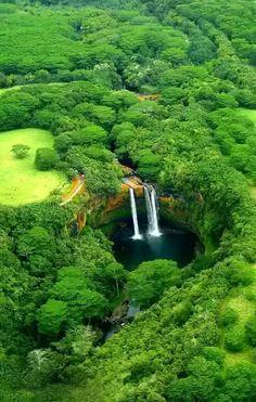 Wailua Falls, Wailua River, Kauai, Hawaii