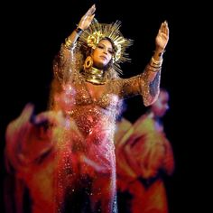 """Beyoncé ascended to her throne once more at the Grammys on Sunday night, where she took to the stage to perform two songs off of Lemonade—""""Sandcastles"""" and """"Love Drought""""—while pregnant with twins.  Read more on TIME.com.  Photograph by Matt Sayles—Invision/@ap.images  #beyonce #grammys"""
