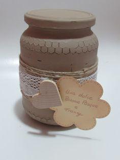 Creatività disordinata : Un vecchio vaso di miele in stile shabby