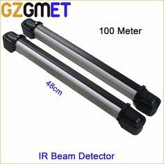 100 Meter IP65 Outdoor 2 Beams 48cm Height Infrared Barrier Detector Beam Sensor for Gate Alarm System #Affiliate