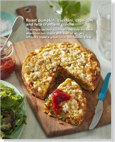 Roast pumpkin crustless quiche. Clipped from Better Homes and Gardens using Netpage.