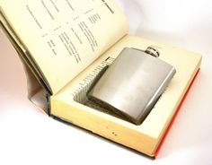 Hollow Book Safe w Flask   Hot Money by Dick by ConduitPress, $50.00