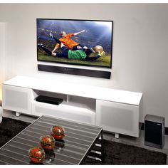 Sound bar and TV wall mounted