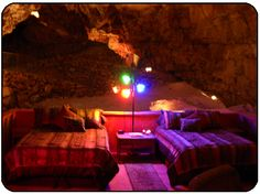 Grand Canyon Caverns - Cavern Suite: hotel room 220 ft underground. No sound, no light, no wifi. Complete isolation from the world above. #travel #PrincessCruises