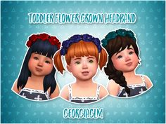 Sims 4 | Toddler Flower Crown Headband #Georgiaglm CAS accessory hat female GP04 separated converted