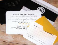 Cool typewrite wedding