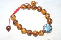 Masculine Mala Adjustable Bracelet with Om Bead by DharmaMalaShop