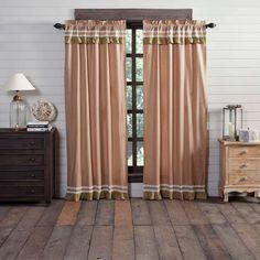 Kendra Stripe Red Panel Curtains – Lange General Store