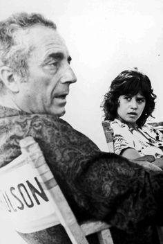 [CasaGiardino]  ♛  Michelangelo Antonioni and Maria Schneider on the set of The Passenger (1975).