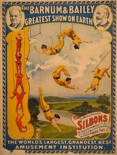 Circus poster number 3 free download  I love this vintage circus posters, so many ideas on what to do with them.  Barnum & Bailey circus po...