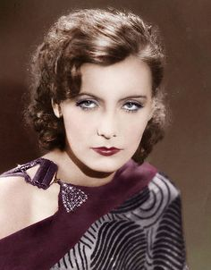 Greta Garbo -- with normal eyebrows. Looks completely different and I love it!