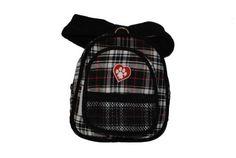 SarahTom 7-Inch Pet Backpack for Dogs, Black Plaid - http://www.thepuppy.org/sarahtom-7-inch-pet-backpack-for-dogs-black-plaid/