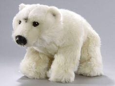 Sitting plush toy polar bear