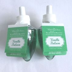 NEW! BATH & BODY WORKS Vanilla Balsam WALLFLOWER SINGLE BULBS X2  ~FREE SHIP US~ #BathBodyWorks