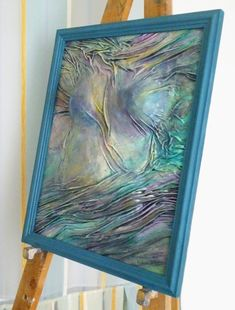 Addition to my #etsy shop: Turquoise Green Painting, Abstract Torso, Nude, Birthday, Gift for Men, Women in Scarf, Purple Painting, Home Decor, Wall Art, Leather Art http://etsy.me/2nvcSjs #art #painting #green #yellow #anniversary