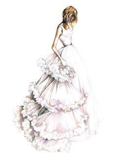 Fashion Finishing School Shop - Fashion Wedding Greeting Card Set