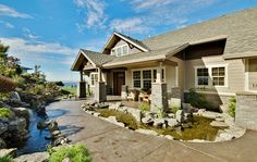 CURB APPEAL – another great example of beautiful design. Craftsman House Plan with 4090 Square Feet and 3 Bedrooms from Dream Home Source | House Plan Code DHSW68552.