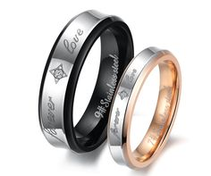 """Fashion Jewelry Stainless Steel Rings Spell color Pattern Stamp """"Forever Love"""" Couple Ring Wedding Rings Engagement Rings"""