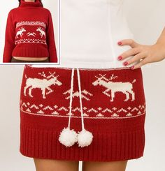Hate ugly Christmas sweaters, LOVE this skirt.
