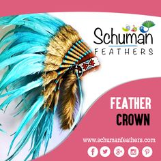 Garland your head in a beautiful way with #feathercrown for carnival celebration