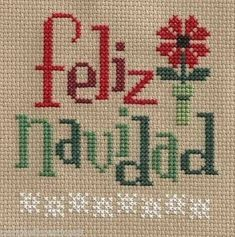 Discover thousands of images about finished completed cross stitch LIZZIE KATE feliz navidad spanish PREORDER Xmas Cross Stitch, Cross Stitching, Cross Stitch Embroidery, Lizzie Kate, Cross Stitch Designs, Cross Stitch Patterns, Christmas Embroidery, Christmas Cross, Merry Christmas