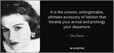 it is the unseen, unforgettable, ultimate accessory chanel - Google Search