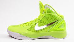 Nike Basket Zoom Hyperdunk 2011 Volt / Metallic Silver