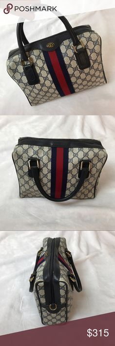 Vintage Gucci Accessory Collection Handbag In excellent condition, you can see the only flaws is the inside that's shed from usage over time. Will consider reasonable offers. Gucci Bags Satchels