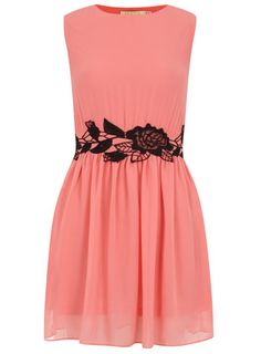Pink scallop edge dress - View All