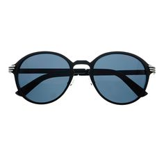 #stylish #retro #vintage #fashion #keyhole #round #sunglasses #matte #black #silver