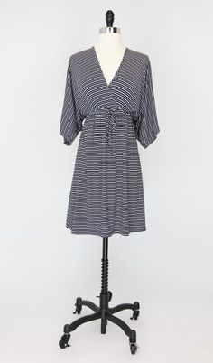 Jacqui Mini Navy Stripes - Modal