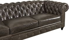 The Kingsbridge Sectional Sofa by Casco Bay Furniture - A Tufted Leather Furniture Special, The Kingsbridge features a tufted back and arms with a tufted front panel. The Kingsbridge features optional Down blend with Ultracel cushion cores. Tufted Sofa, Sectional Sofa, Couch, Leather Furniture, Leather Sofa, Casco Bay, Furniture Design, Arms, Cushions