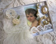 Embellishment Inspiration Kit 62 Series 2...Ivory by GypsyFeather  $16.50
