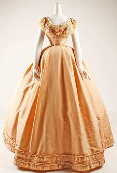 27-10-11  Dress option 2 (evening)  Date: ca. 1864  Culture: French  Medium: silk   # Pin++ for Pinterest #