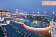 Royal Caribbean Enchantment of the Seas Solarium #Travel #Cruise