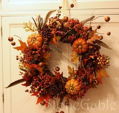 door wreaths - ours is old and ugly (aka selfmade by myself in school, and no, i was not crafty!)