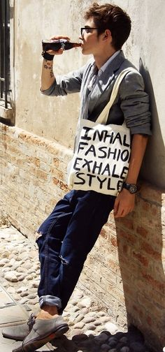 """great motto: """"Inhale fashion, exhale style."""""""