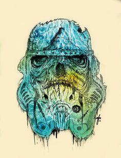 """Storm Zombie"" by Albert F Montoya - zombie apocalypse meets #StarWars"