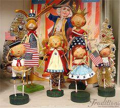 Lori Mitchell designs very popular Patriotic figures!