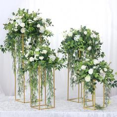 Wedding/Table Centerpiece Flower Vase Floor Vases Metal Road Lead Flower Stand/Pot/Rack for Wedding/Party Decoration Church Wedding Flowers, Church Wedding Decorations, Wedding Columns, White Wedding Flowers, Garden Wedding, Tall Wedding Centerpieces, Floral Centerpieces, Graduation Centerpiece, Quinceanera Centerpieces