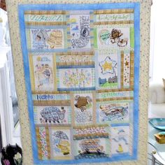 Quilt for new grandson.  Nursery Rhymes by Anita Goodesigns